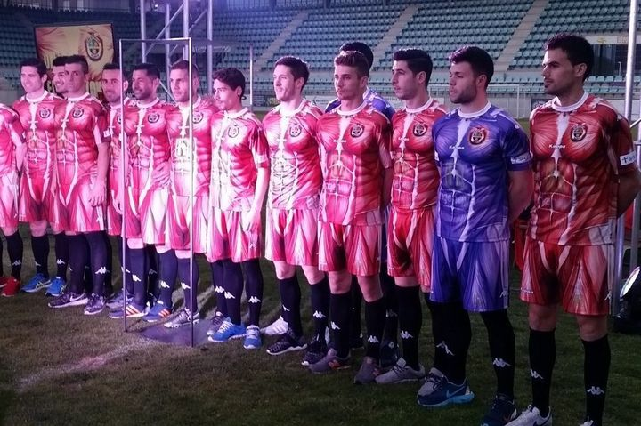 C.D. Palencia unveiled its new uniform on Thursday night.