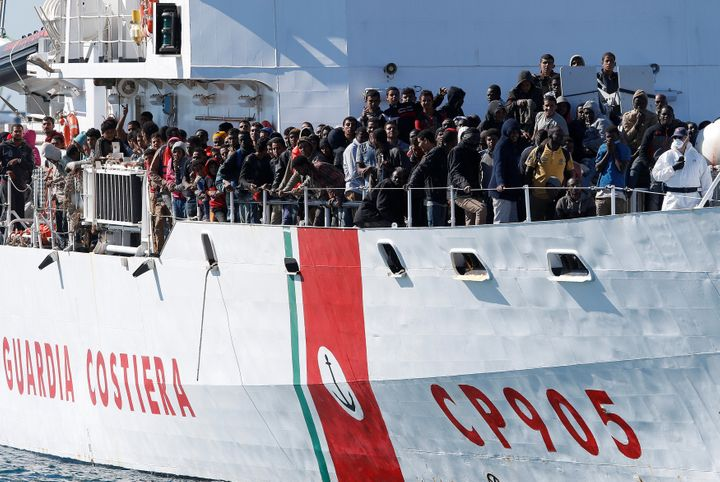 Frontex saidwas no sign that migrants were shifting routes to Europe, from Greece to Italy, but humanitarian agencies c