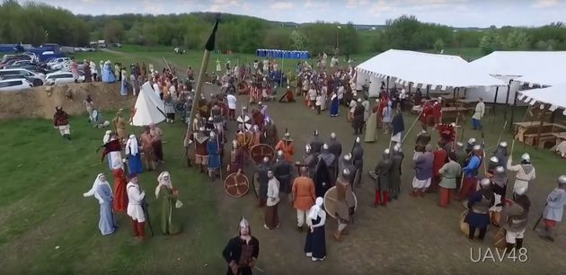Drone Vs Medieval Spear: It Was Only Going To End One