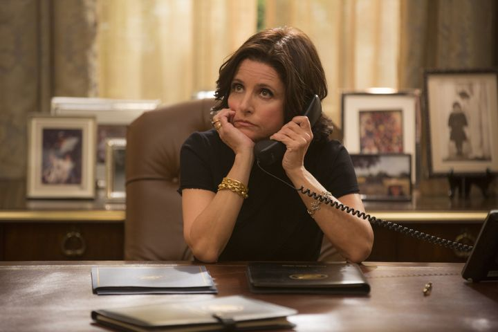 "On HBO's ""Veep,"" President Selina Meyer is always in high heels publicly -- chances are, she kicks them off under the d"
