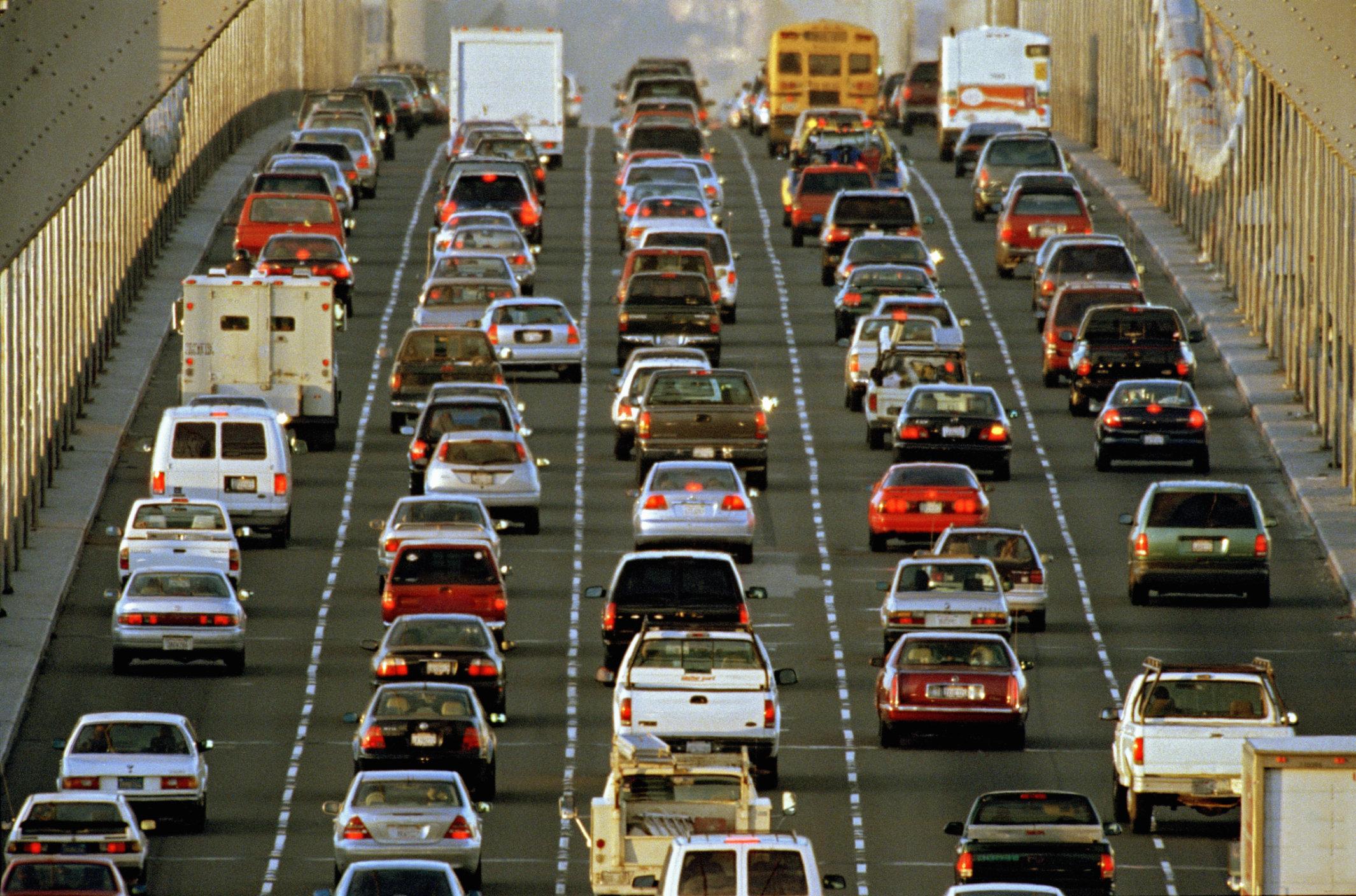 Traffic on Bay Bridge, San Francisco
