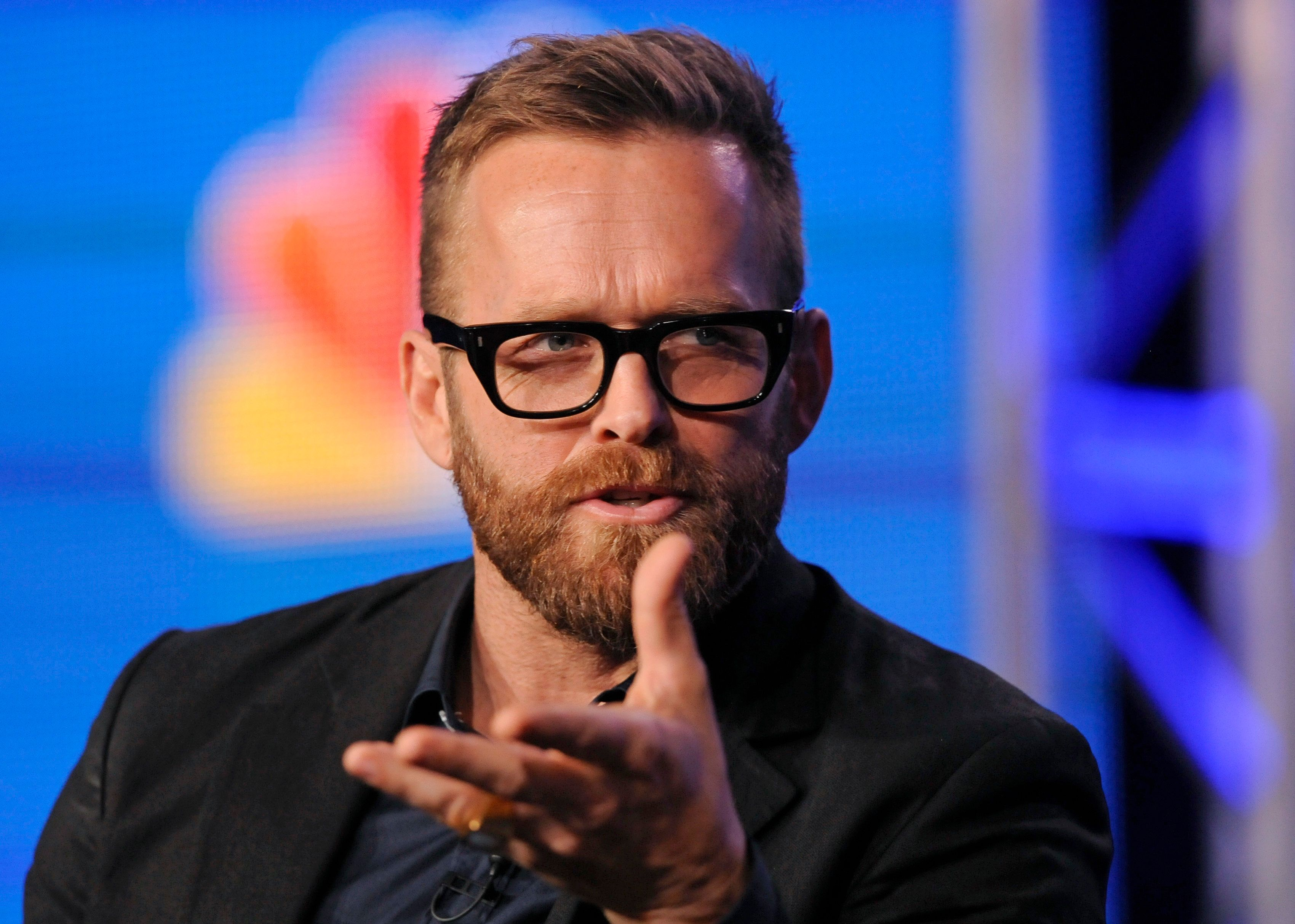 "Trainer Bob Harper takes part in a panel discussion of NBC Universal's show ""The Biggest Loser"" during the 2013 Winter Press Tour for the Television Critics Association in Pasadena, California January 6, 2013. REUTERS/Gus Ruelas (UNITED STATES - Tags: ENTERTAINMENT)"