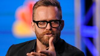 """Trainer Bob Harper takes part in a panel discussion of NBC Universal's show """"The Biggest Loser"""" during the 2013 Winter Press Tour for the Television Critics Association in Pasadena, California January 6, 2013. REUTERS/Gus Ruelas (UNITED STATES - Tags: ENTERTAINMENT)"""