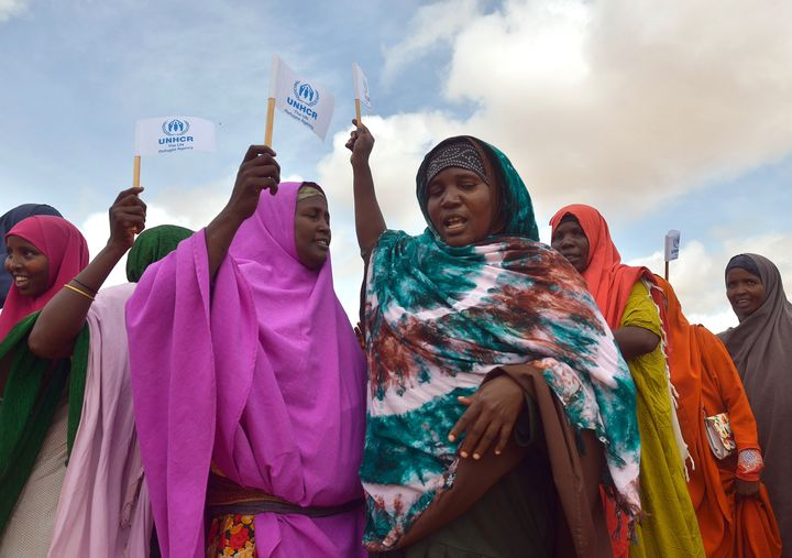 Over 350,000 people live in Dadaab in northeast Kenya, the largest refugee camp in the world.