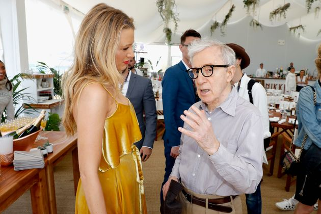 Always working... Woody Allen in Cannes with his leading lady Blake