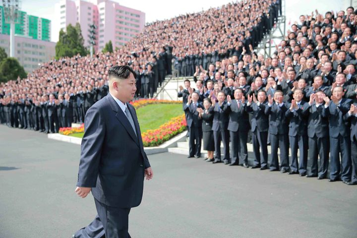 North Korean leader Kim Jong Un is pictured with participants in a rare ruling party congress.Moscow has demanded an ex