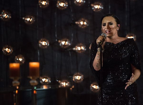 Demi Lovato performed for guests.