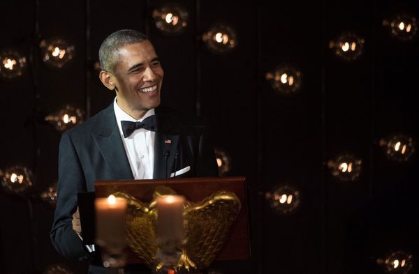 President Barack Obama speaks duringthe dinner.