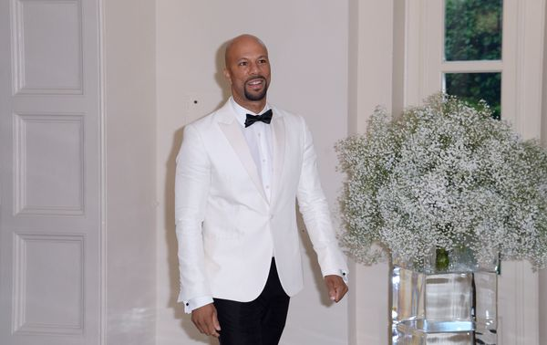 Rapper Common arriving at the state dinner.