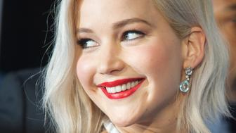 LONDON, ENGLAND - MAY 09:  Jennifer Lawrence  attends a Global Fan Screening of 'X-Men Apocalypse' at BFI IMAX on May 9, 2016 in London, England.  (Photo by Samir Hussein/WireImage)