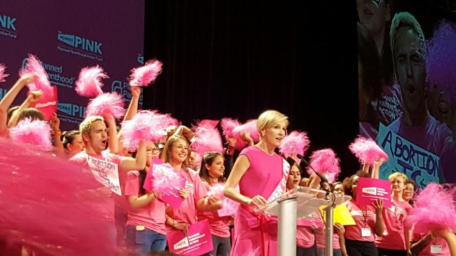Planned Parenthood President Cecile Richards addressed nearly 1,000 volunteers at a rally in Pittsburgh on May 14, 2016.