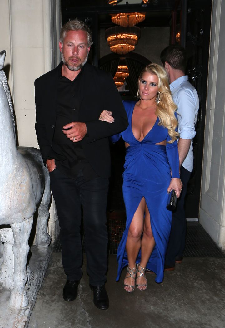 Jessica Simpson Is A Vision In Blue On Date Night With Husband Eric ...
