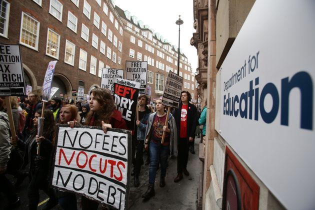 Tuition fees have prompted well-attended protests in London over the past four