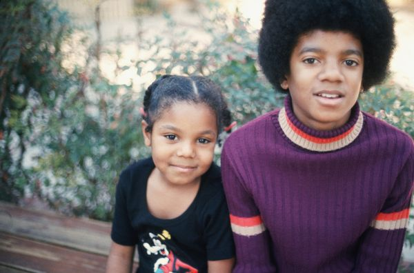 With her brother, Michael Jackson, at their home in Los Angeles.