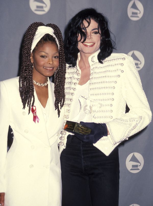 WithMichael Jackson at the 35th annual Grammy Awards in Los Angeles.