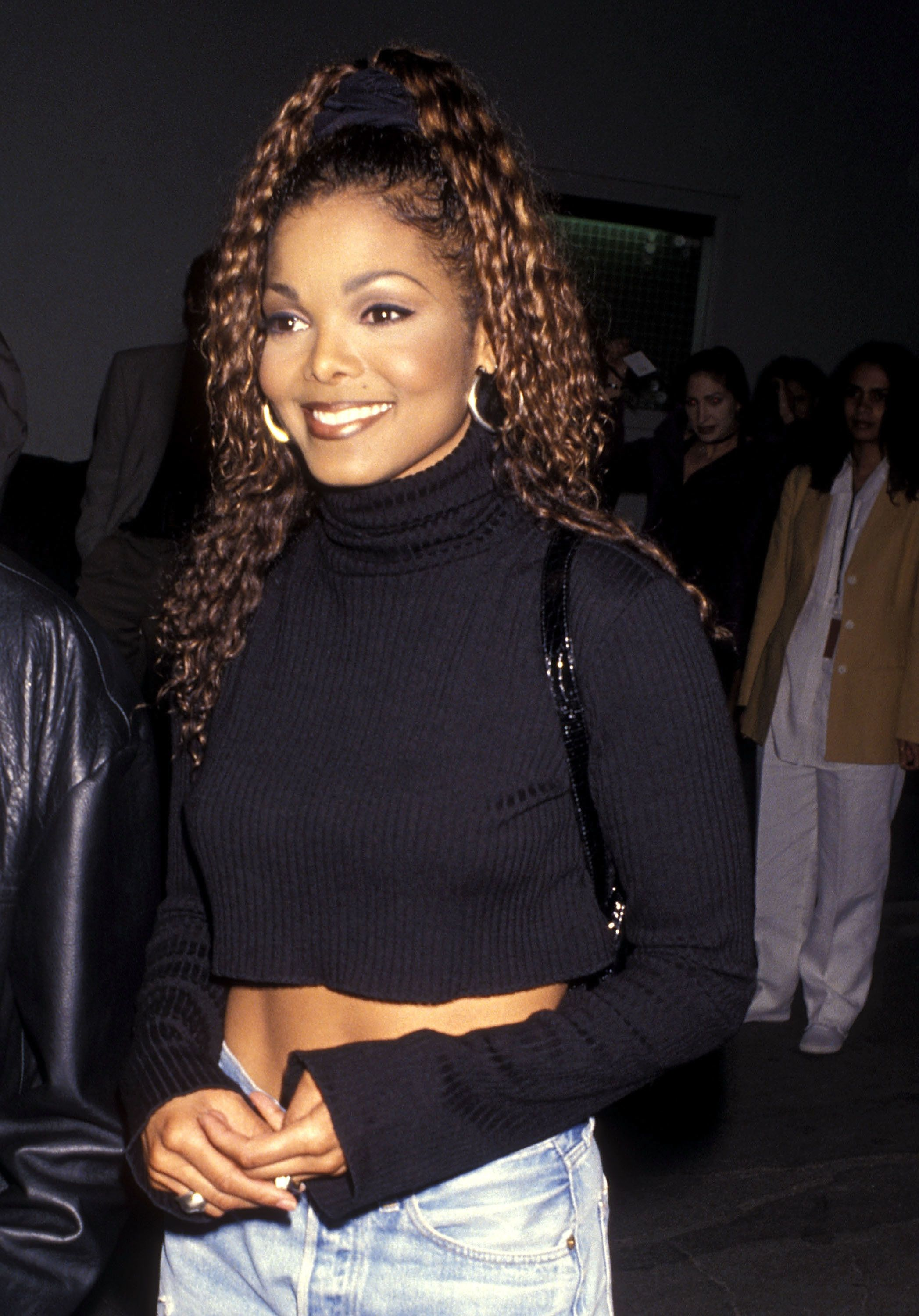 """At\the party for hersold-out concert tour and plaque presentation for 10 million copies of """"Janet"""" album in Culve"""
