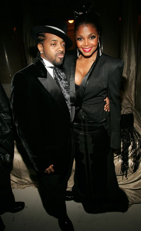 """With Jermaine Dupri during Royal Birthday Ball for Sean """"P. Diddy"""" Combs in New York City."""