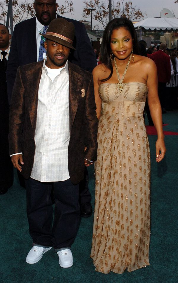 With Jermaine Dupri during Clive Davis' 2005 Pre-Grammy Awards Party in Beverly Hills, California.