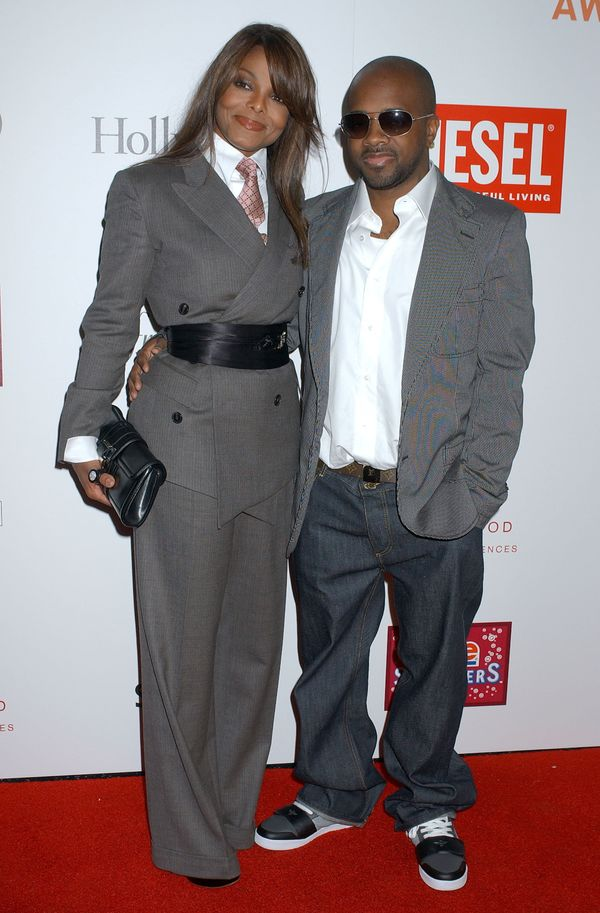 With Jermaine Dupri during Hollywood Life Movieline Style Awards in West Hollywood, California.
