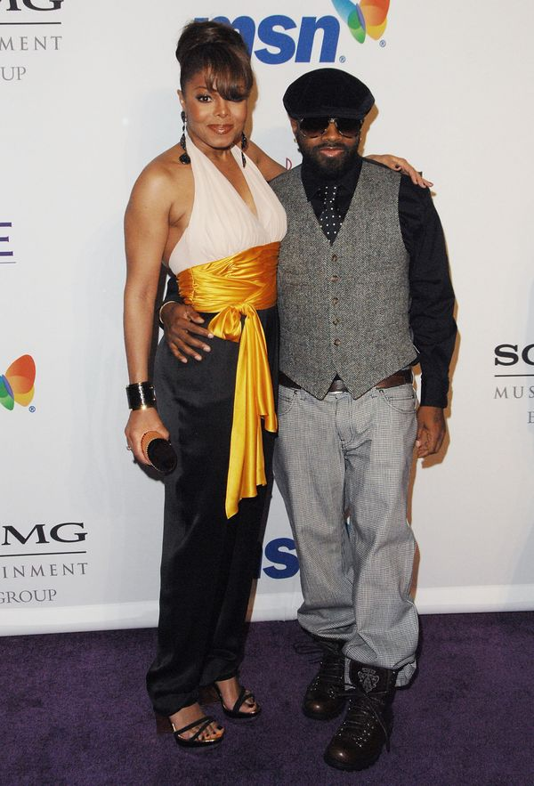 With Jermaine Dupri atClive Davis' Pre-Grammy Party in Beverly Hills.