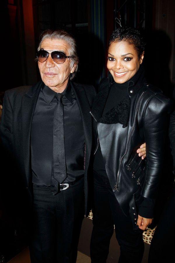 With Roberto Cavalliatthe Roberto Cavalli 40th anniversary party in Paris, France.