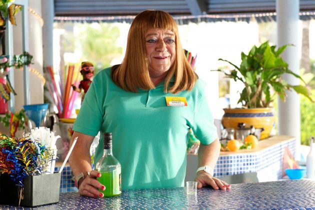 Tim has played cross-dressing Lesley in 'Benidorm' since