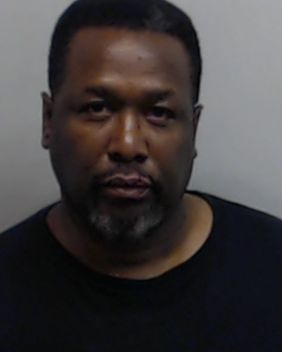 Pierce, shown in this mug shot, was charged with simple battery following the alleged altercation at a hotel in Atlanta.
