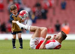 Jack Wilshere's Son Proves He's A Chip Off The Old Block After Arsenal's Final Game Of The Season