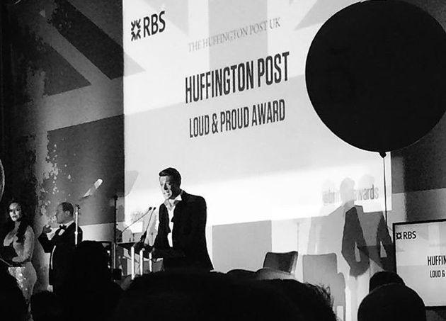 Boy George won the Huffington Post award 'Loud and