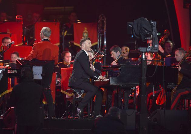 Gary Barlow performs at the