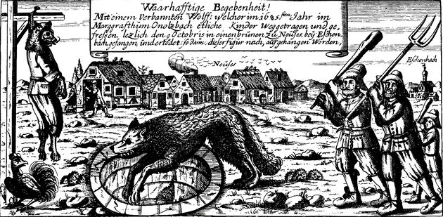 Wolf bounties were offered during the 18th century (file
