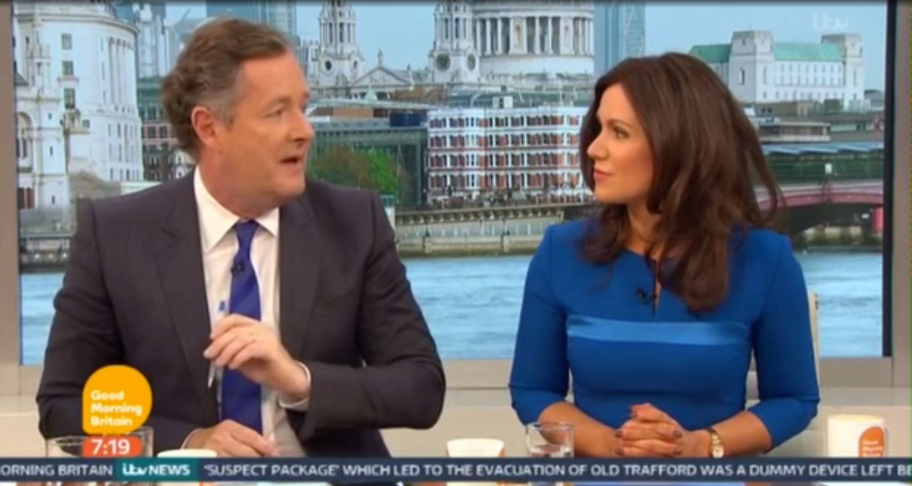 Piers Morgan and Susanna Reid clashed in Monday's