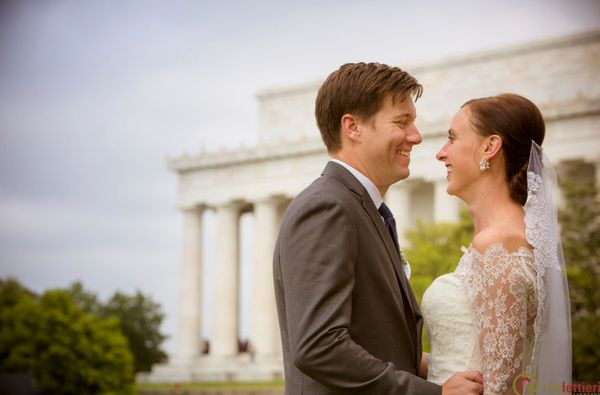"""Justin and Melissa met and fell in love in Washington, DC, so it's only fitting that the Lincoln Memorial is the"
