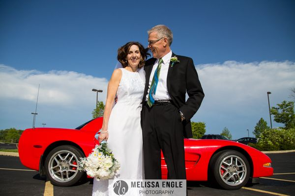 """Jewel and John were happily married this weekend in Mechanicsburg, Pennsylvania. In between rain showers, the sun came out i"