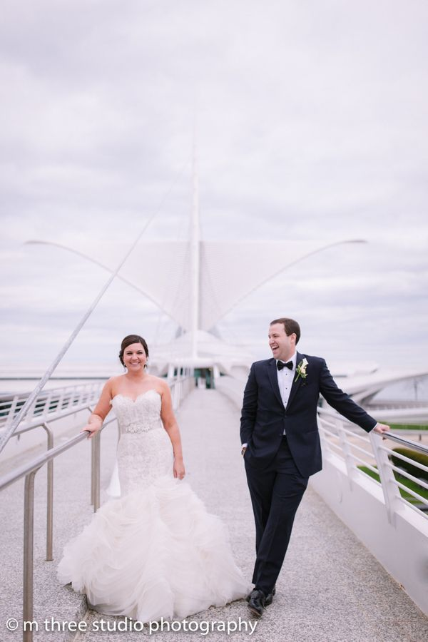 """Stephen and Caitlin in Milwaukee, Wisconsin. They braved snow, rain and near-freezing temperatures at the height of spring ("