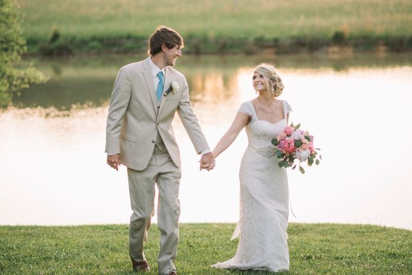 """Hayden and Summer said their 'I dos' during their beautiful barn wedding in Loudon, Tennessee. The love they have for e"