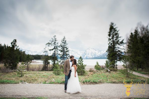 """Tola and Mark were married in Grand Teton National Park at the Swim Beach at Colter Bay with close friends and family in att"