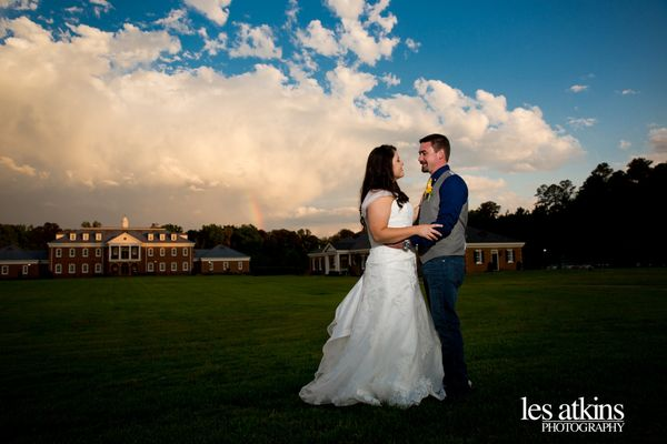 """A perfect wedding day for Chelsea and Jade in Emporia, Virginia complete with a hint of a rainbow in the sky."" - <i>Les"