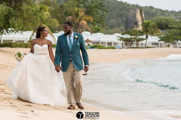 """Elysia and Jeanna Richardson got married in Antigua at St. James Club and Villas."" -- <i>Teshorn Jackson</i>"