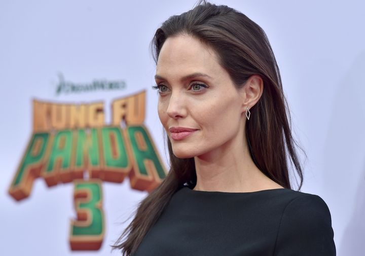 "Actress Angelina Jolie arrives at the premiere of ""Kung Fu Panda 3"" at TCL Chinese Theatre on Jan. 16, 2016."