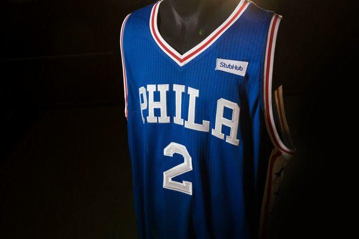 It's still a 76ers jersey, not a StubHub jersey.