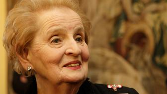 "Former U.S. State Secretary and head of an international panel that is working to update NATO's mission statement ,Madeleine Albright attends The International Conference ""NATO Strategic Concept: Response to Our Concerns?? in Prague January 12, 2010.   REUTERS/David W Cerny (CZECH REPUBLIC Tags: - Tags: POLITICS)"