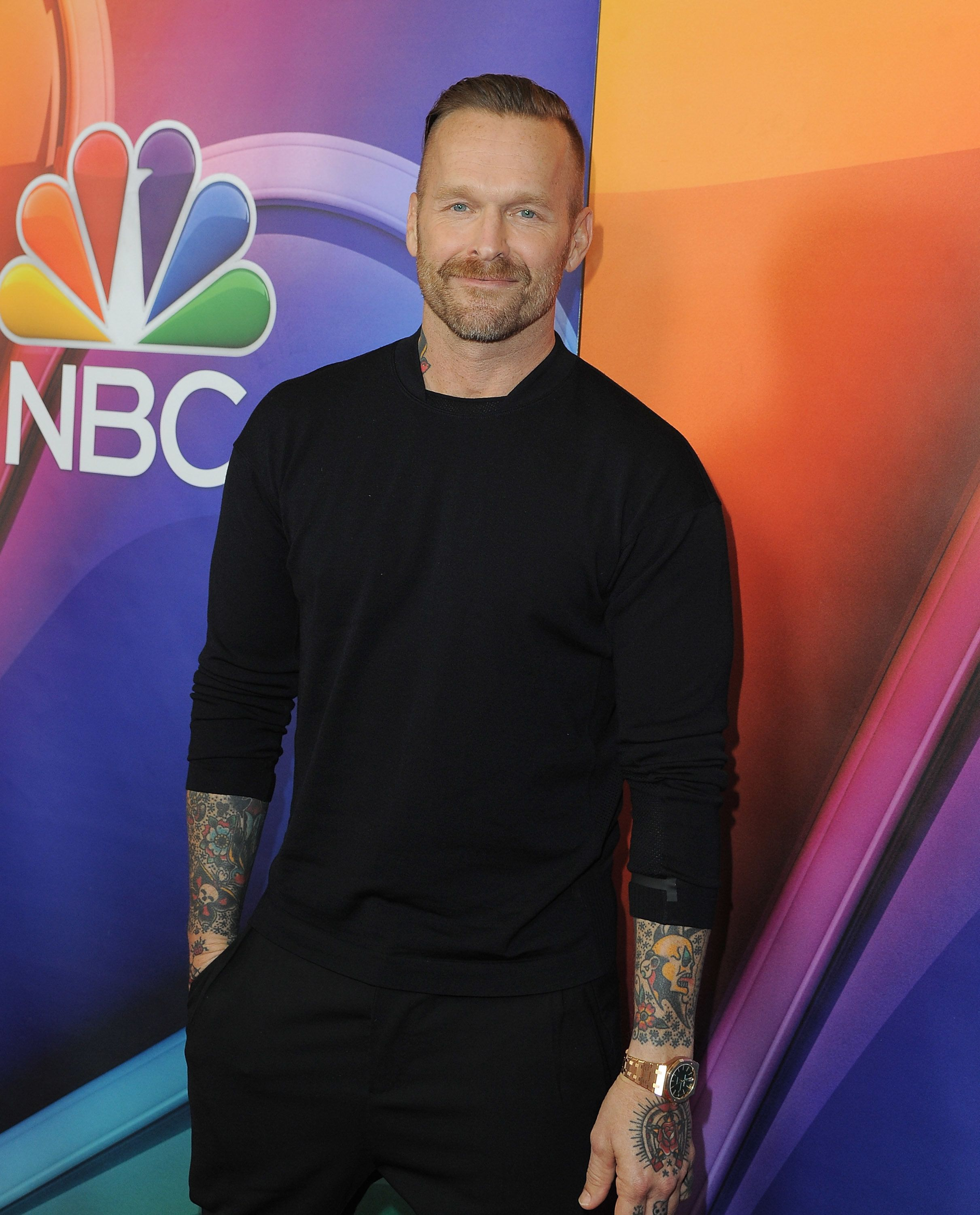 PASADENA, CA - JANUARY 13:  Bob Harper arrives at the 2016 Winter TCA Tour - NBCUniversal Press Tour  at Langham Hotel on January 13, 2016 in Pasadena, California.  (Photo by Angela Weiss/Getty Images)