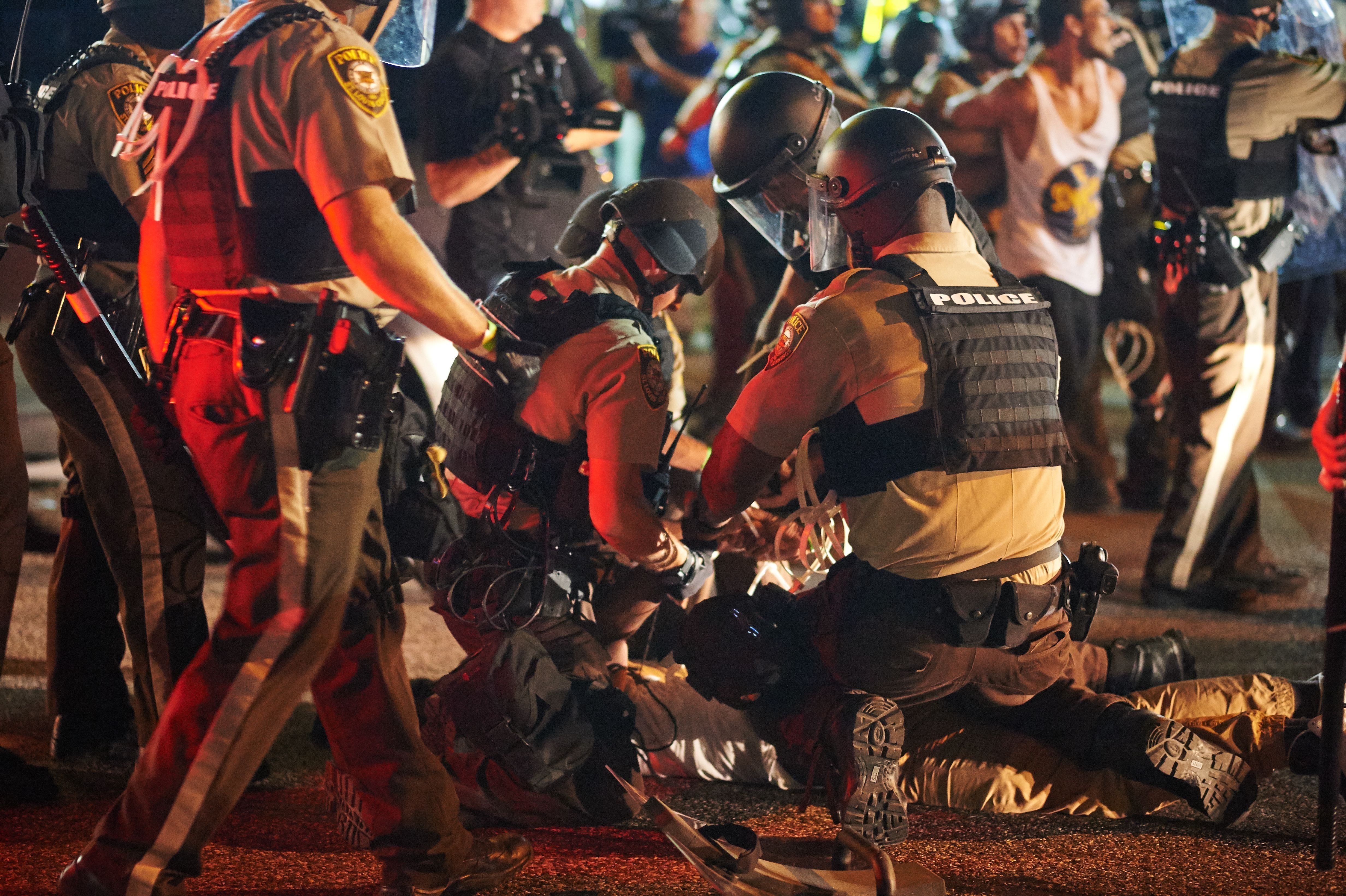Police were too quick to arrest protesters and reporters during the Ferguson unrest.