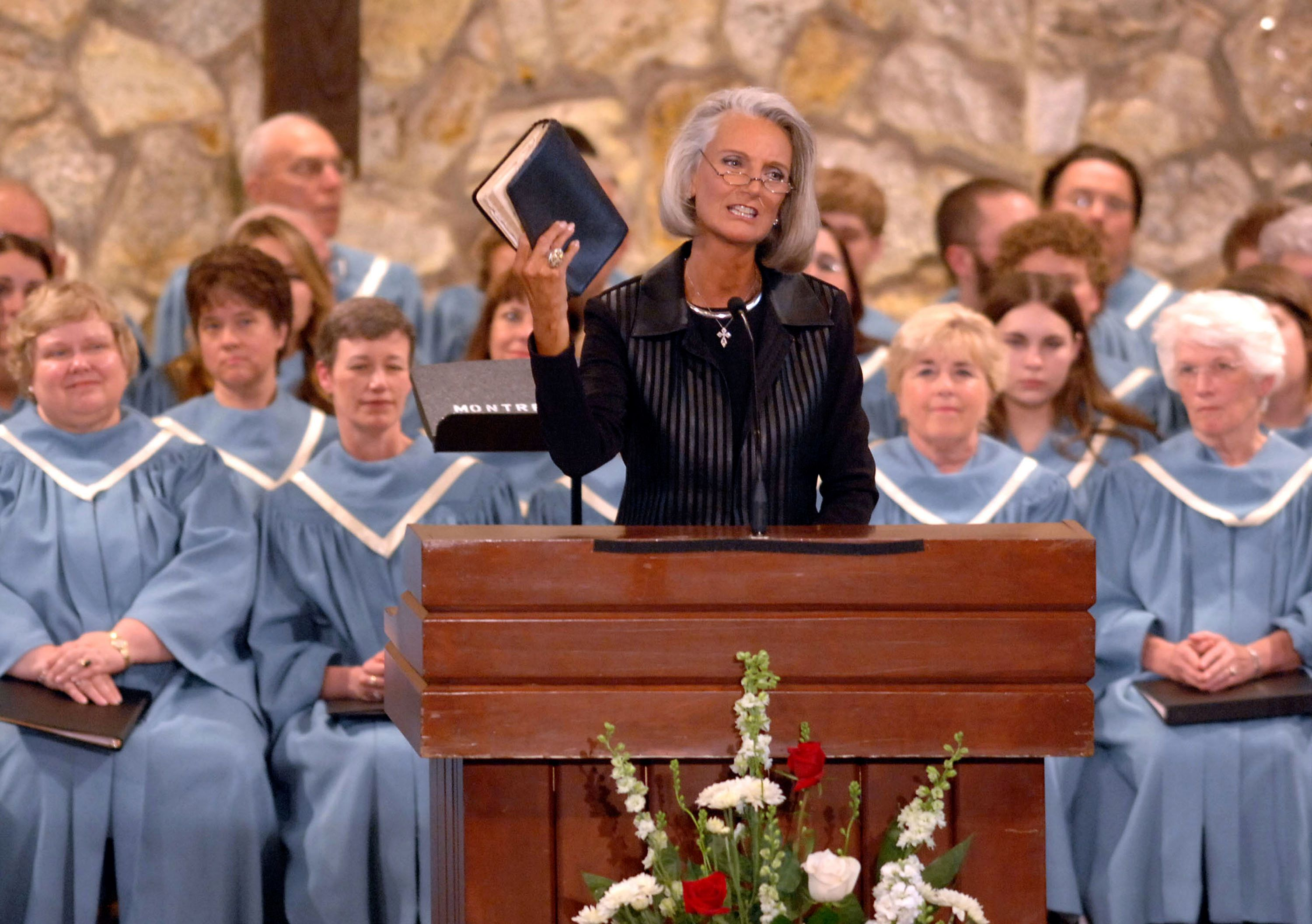 """Anne Graham Lotz, seen here in a 2007 file photo, claims God allows terror attacks """"to show us that we need hm."""""""
