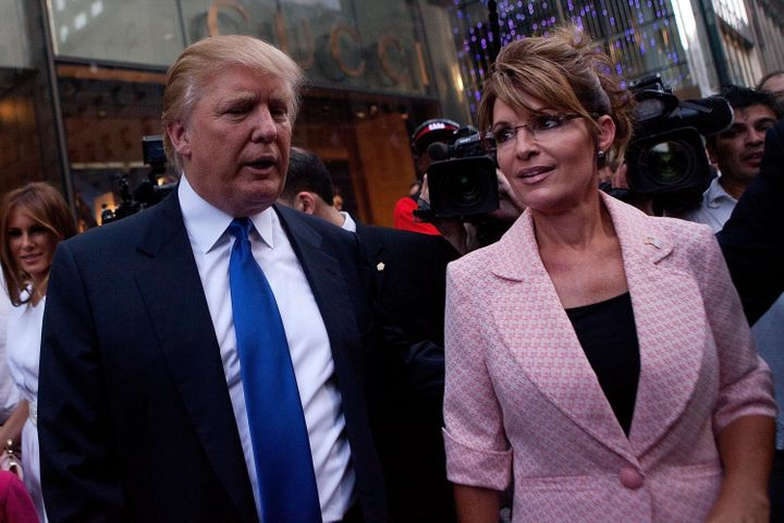 Donald Trump has a new campaign team in Alaska. The state's former governor, Sarah Palin, was one of Trump's early backe
