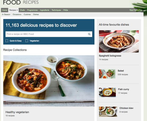 BBC Insists Recipes Not Being 'Removed' - Just Moving Them To Second Food