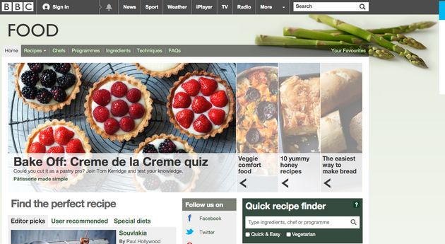 The BBC Food site will be closed this