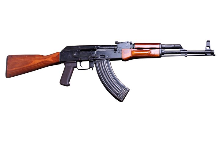 Authorities allege they found an AK-47, like the one pictured, near to where Post was lurking in the woodlands.