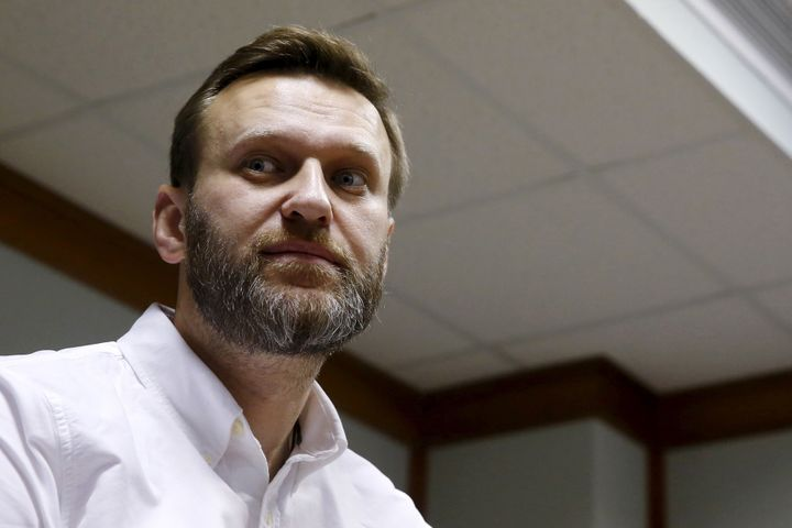 Russian anti-corruption campaigner Alexei Navalny and fellow activists were attacked at an airport by assailants described as